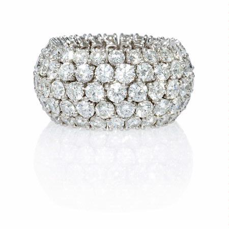 948ct Diamond 18k White Gold Flexible Eternity Wedding Band Ring