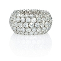 Diamond 18k White Gold Flexible Eternity Wedding Band Ring