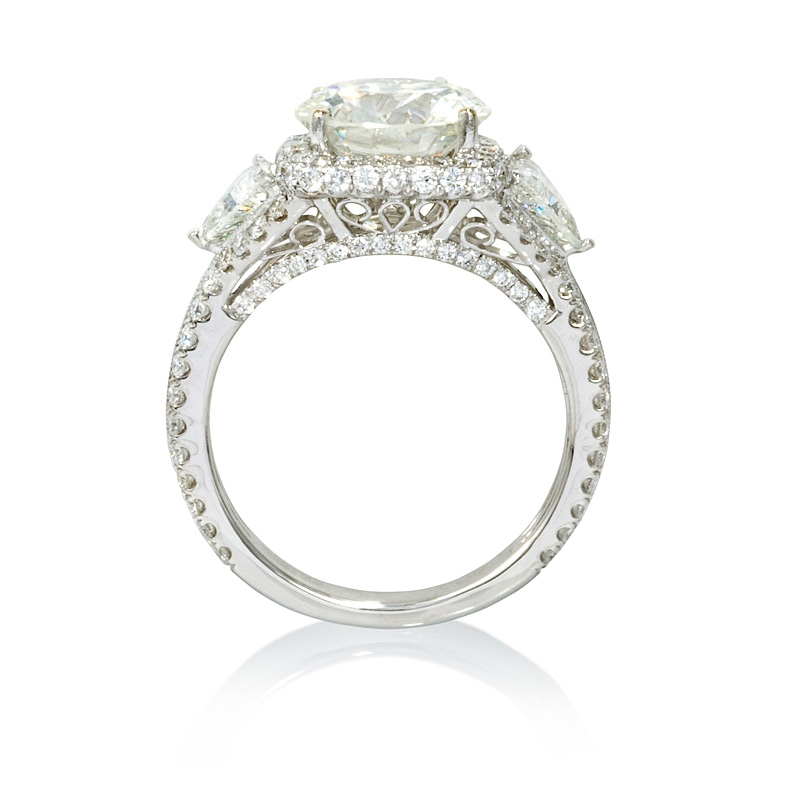 1 80ct antique style 18k white gold halo