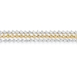 5.53ct Diamond 18k Two Tone Gold Three Row Bracelet