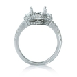.60ct Diamond 18k White Gold Engagement Ring Setting