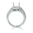 1.27ct Diamond 18k White Gold Halo Engagement Ring Setting