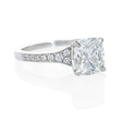.17ct Diamond Antique 18k White Gold Engagement Ring Setting