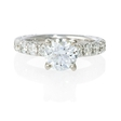 1.03ct Diamond Antique 18k White Gold Engagement Ring Setting