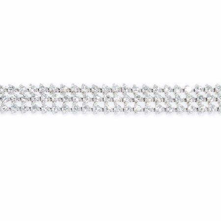 5.47ct Diamond 18k White Gold Tennis Bracelet