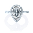 .41ct Diamond 18k White Gold Halo Engagement Ring Setting
