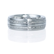 Men's 14k White Gold Wedding Band Ring