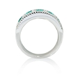 .59ct Diamond and Emerald 18k White Gold Ring
