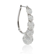 4.53ct Diamond 18k White Gold Hoop Earrings