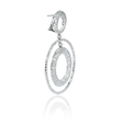 13.79ct Diamond 18k White Gold Dangle Earrings