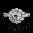2.51ct Christopher Designs Diamond 18k White Gold Engagement Ring