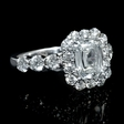 2.59ct Christopher Designs Diamond 18k White Gold Engagement Ring