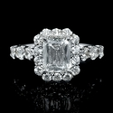 Christopher Designs Diamond 18k White Gold Engagement Ring