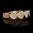.80ct Diamond 18k Rose Gold Wedding Band Ring