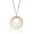 1.85ct Diamond 18k Three Tone Gold Pendant Necklace