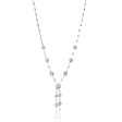 2.50ct Diamond 18k White Gold Drop Necklace
