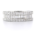 3.06ct Diamond 18k White Gold Eternity Wedding Band Ring