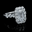 3.91ct Christopher Designs Diamond 18k White Gold Engagement Ring