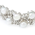 11.46ct Diamond and South Sea Pearl 18k White Gold Bracelet