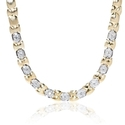 Garavelli Diamond 18k Two Tone Gold Necklace