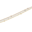 .78ct Diamond Chain 18k Three Tone Gold Necklace