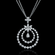 3.35ct Diamond 18k White Gold Pendant