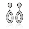 9.05ct Diamond 18k White Gold Dangle Earrings