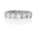 Diamond Platinum Five Stone Wedding Band Ring
