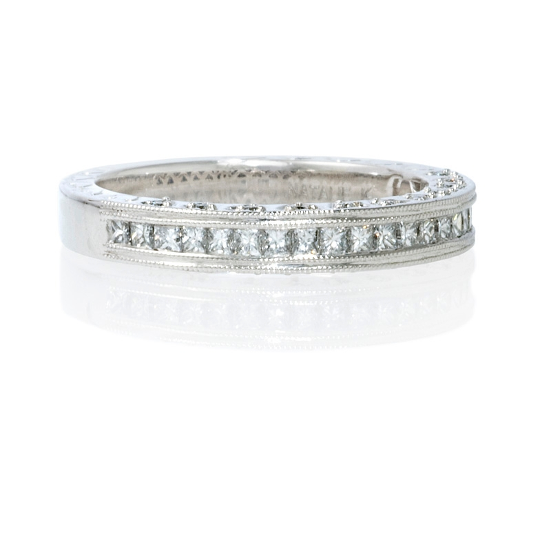 Filigree Wedding Band Platinum images