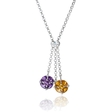 Amethyst and Ametrine 18k White Gold Pendant Necklace