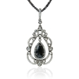 1.96ct Diamond 18k White Gold and Black Rhodium Pendant