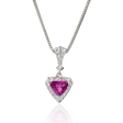.36ct Diamond and Pink Sapphire 18k White Gold Pendant
