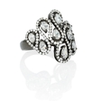 1.20ct Diamond 18k White Gold and Black Rhodium Swirl Ring