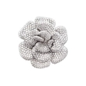 Garavelli Diamond 18k White Gold Floral Brooch Pin