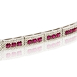 1.98ct Diamond and Ruby 18k White Gold Bracelet