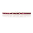 1.41ct Diamond and Ruby 18k White Gold Bracelet