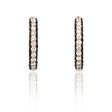 1.18ct Diamond 18k White Gold Huggie Earrings