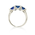 .31ct Diamond and Blue Sapphire 18k White Gold Ring