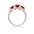 .33ct Diamond and Ruby 18k White Gold Ring