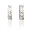 1.00ct Diamond 18k White Gold Huggie Earrings