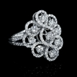 1.61ct Diamond 18k White Gold Openwork Swirl Ring