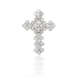 1.47ct Diamond 18k White Gold Cross Pendant