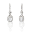 1.01ct Diamond 18k White Gold Dangle Earrings