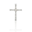 1.10ct Diamond 18k White Gold Cross Pendant
