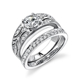 .17ct Simon G Diamond Antique Style Platinum Engagement Ring Setting