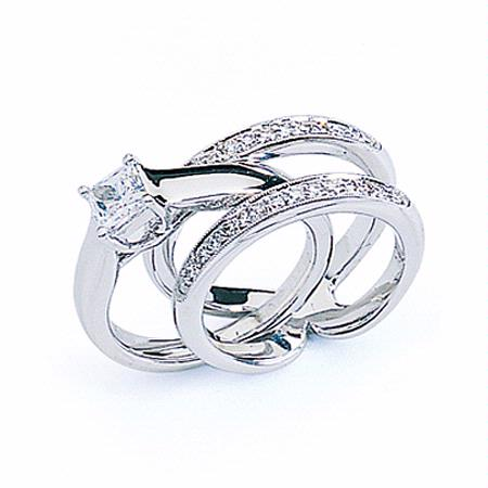 diamond wedding ring guard - Wedding Ring Guard