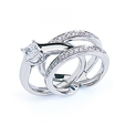 .38ct Simon G Diamond Antique Style Platinum Wedding Band Ring Guard