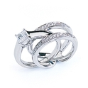 Simon G Diamond Antique Style Platinum Wedding Band Ring Guard