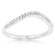 .14ct Simon G Diamond 18k White Gold Wedding Band Ring