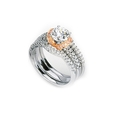 .53ct Simon G Diamond Platinum and 18k Rose Gold Engagement Ring Setting
